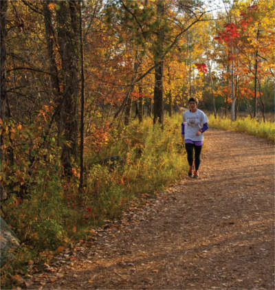 Jogger at Schmeeckle Reserve